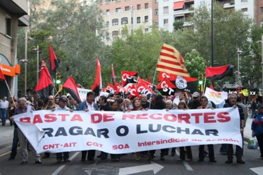Zaragoza: «Tragar o Luchar», Manifestación combativa y unión anarcosindicalista