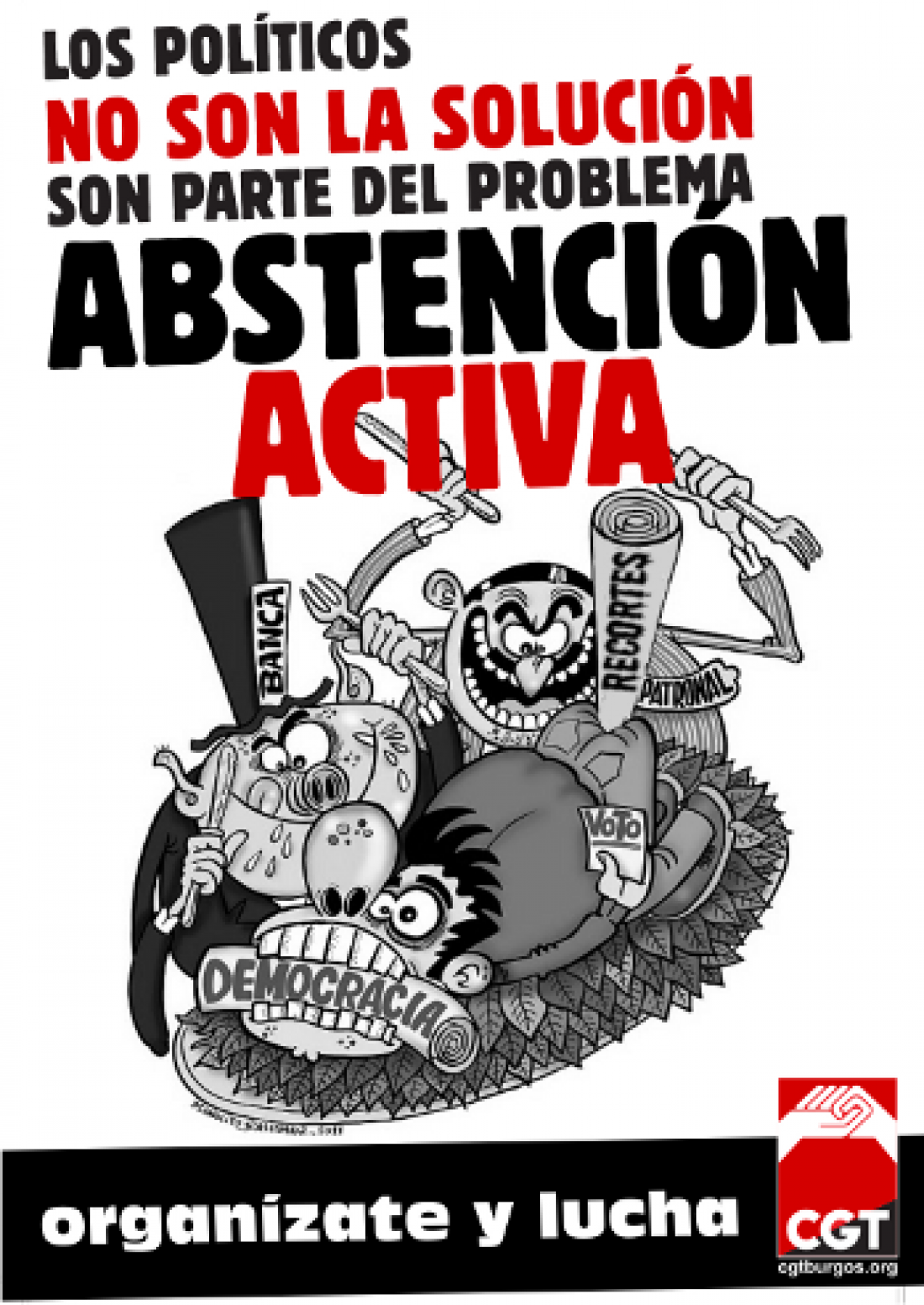 Elecciones 22 de Mayo: Diversas Confederaciones Territoriales y Federaciones Locales de CGT promueven la abstención activa