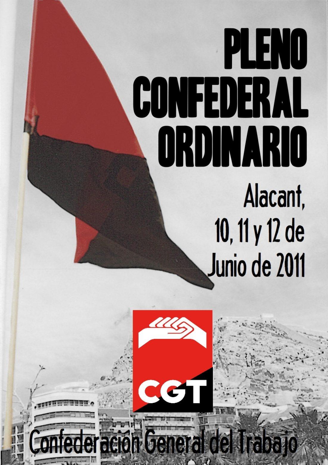 Pleno Confederal de la CGT (Alacant, 10, 11 y 12 de junio).