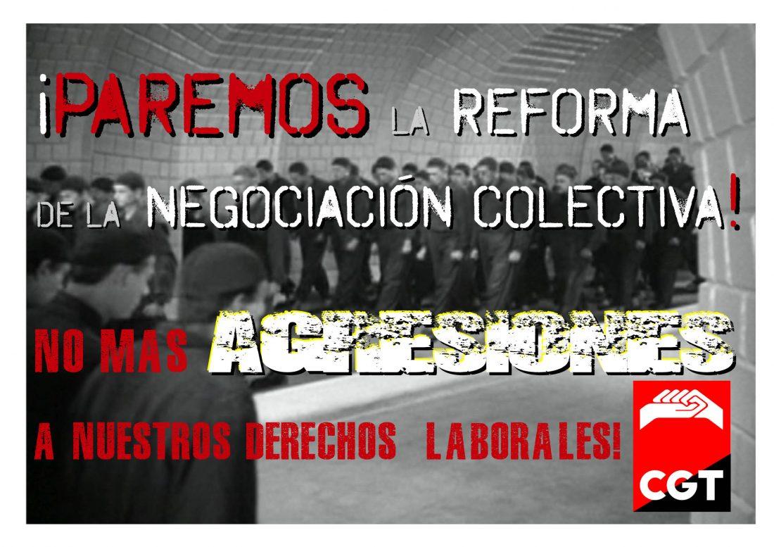 CGT contra la reforma de la negociación colectiva: un nuevo ataque frontal a los derechos laborales