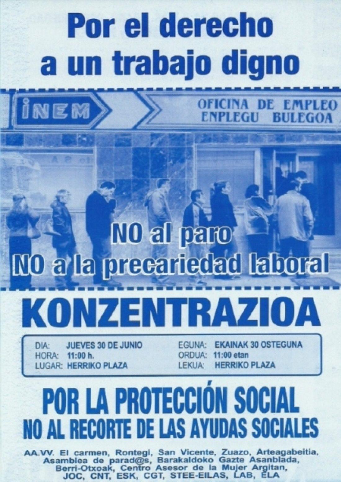 Barakaldo, 30 de junio: Concentración contra la ola de despidos