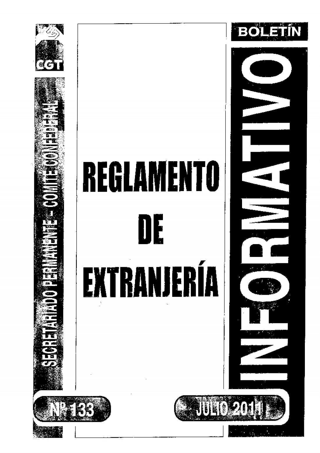 133. Reglamento de Estranjería (RD 557/2010)