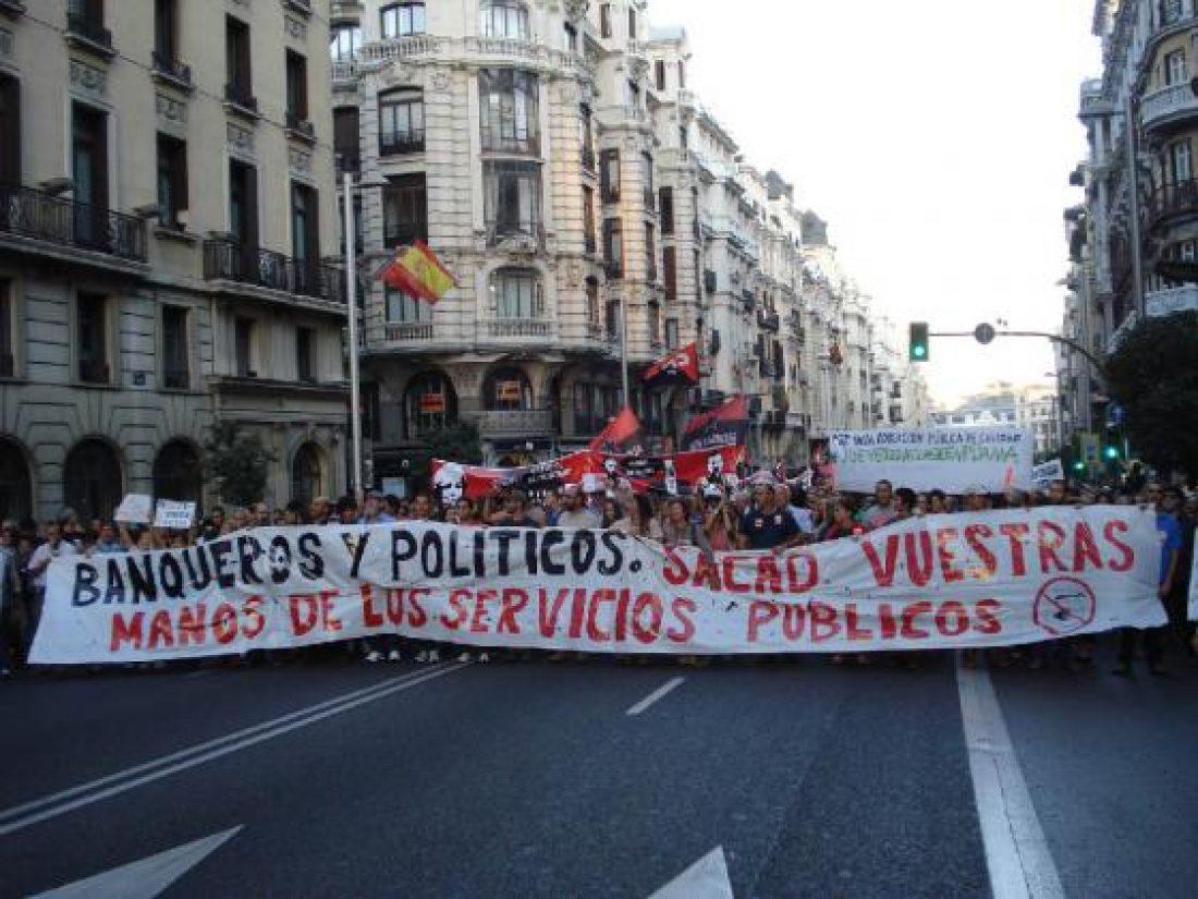 Madrid: Multitudinaria manifestación en defensa de los Servicios Públicos (18 Sept.)