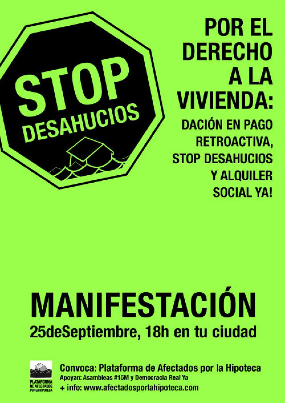 CGT con las movilizaciones por el derecho a la vivienda y contra los desahucios
