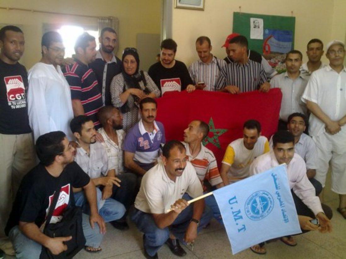 CGT contra la represión y persecución sindical en Roca-Maroc