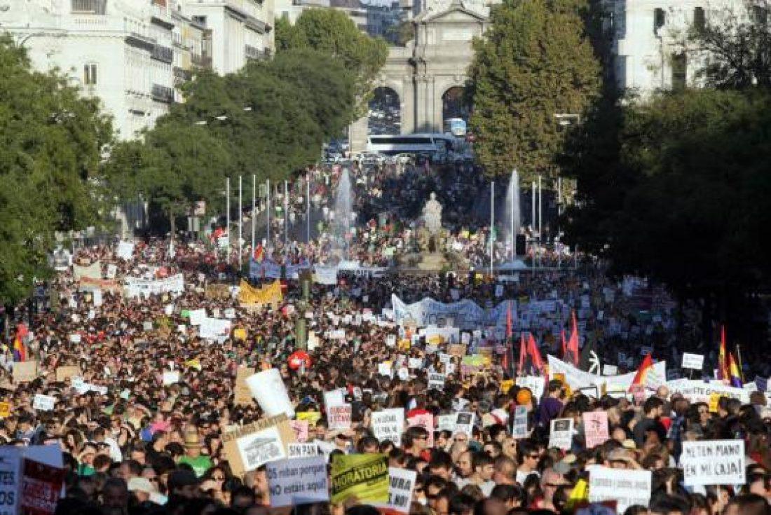 Algunas crónicas e imágenes de las movilizaciones del 15-O
