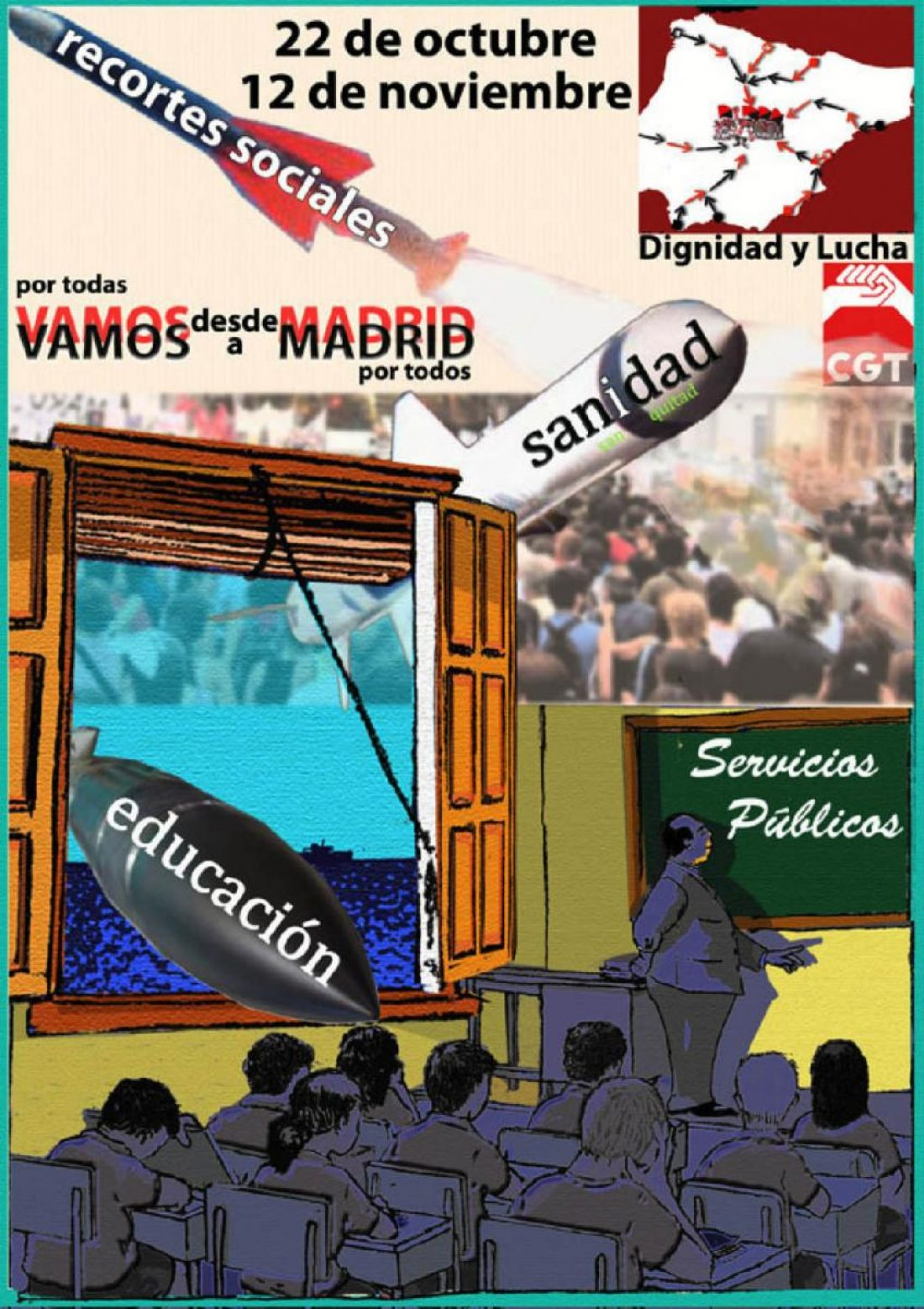 El 22 de Octubre, todxs a Madrid: No a los recortes en Educación