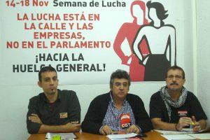 CGT, CNT y SO convocan esta semana de lucha como paso hacia la huelga general