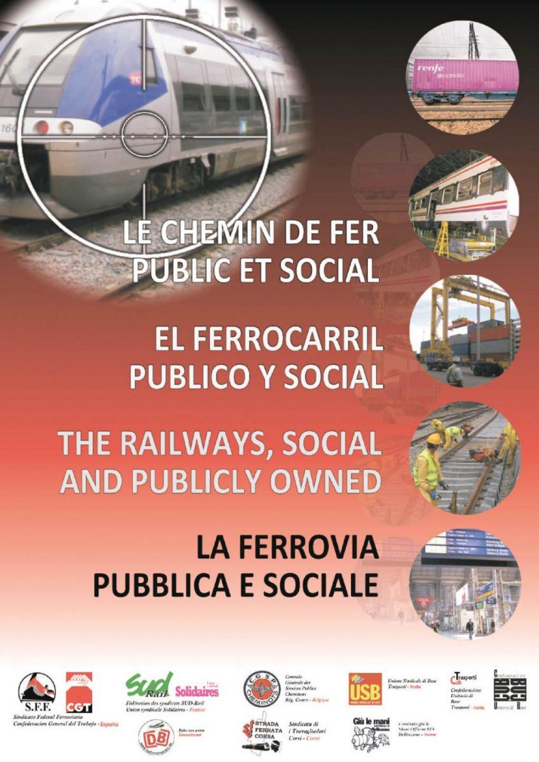 Manifiesto Unitario de Sindicatos Europeos: Por un Ferrocarril público y social