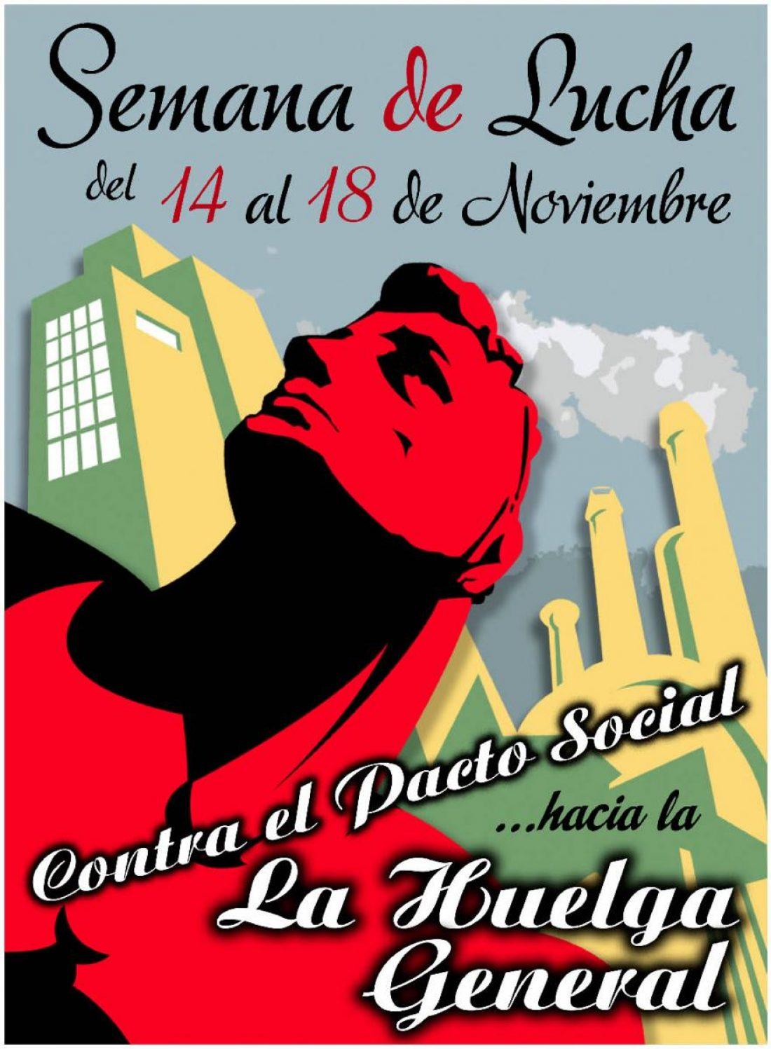 14-18 de Noviembre: Convocatorias para la Semana de Lucha