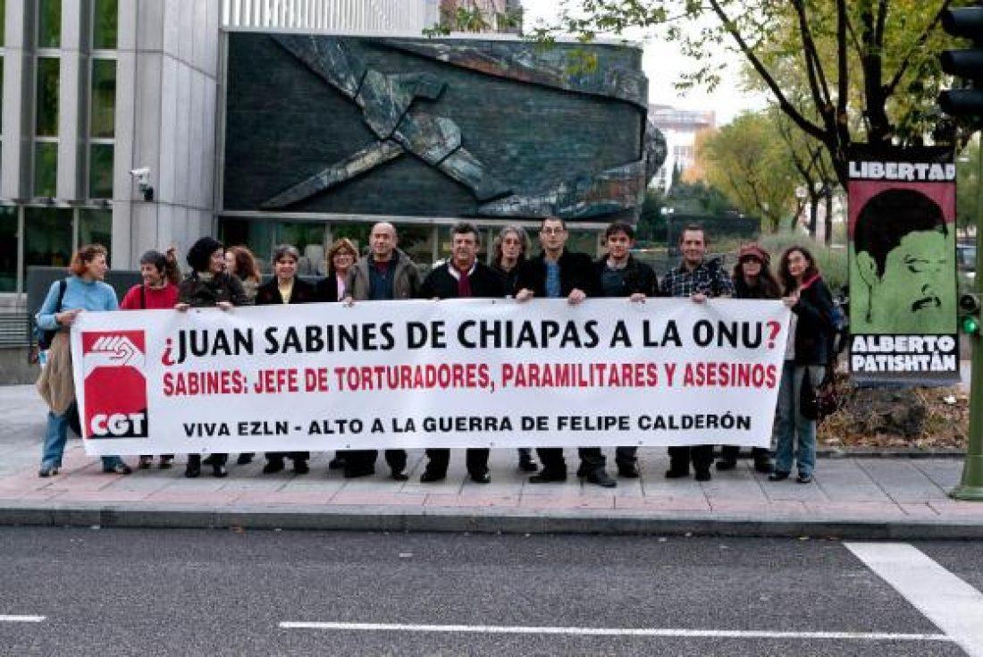 CGT denuncia nuevo crimen de Estado del gobierno mexicano ante las embajadas de la ONU y de México en Madrid
