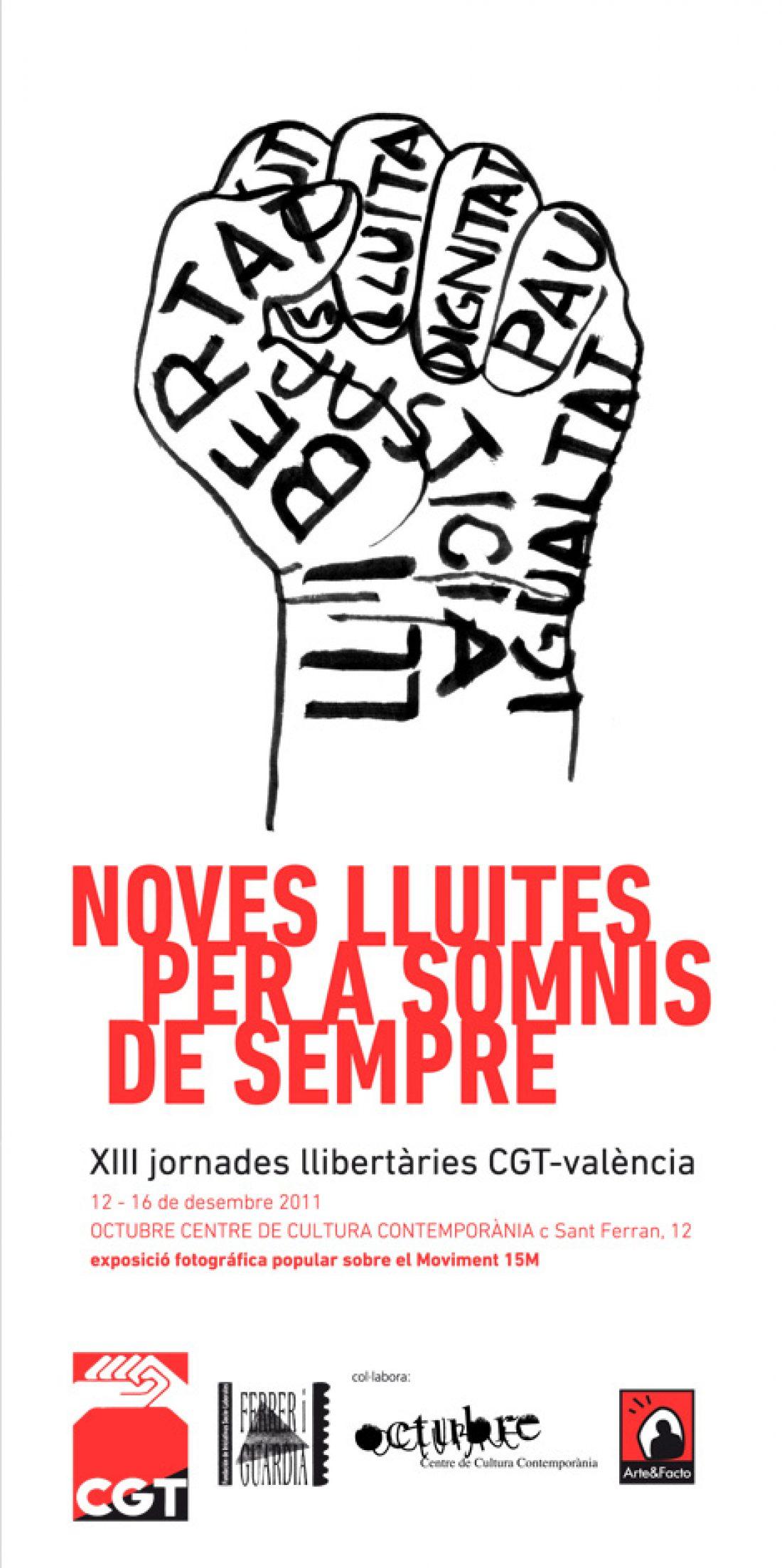 XIII Jornades Llibertàries CGT-València: Noves lluites per a somnis de sempre
