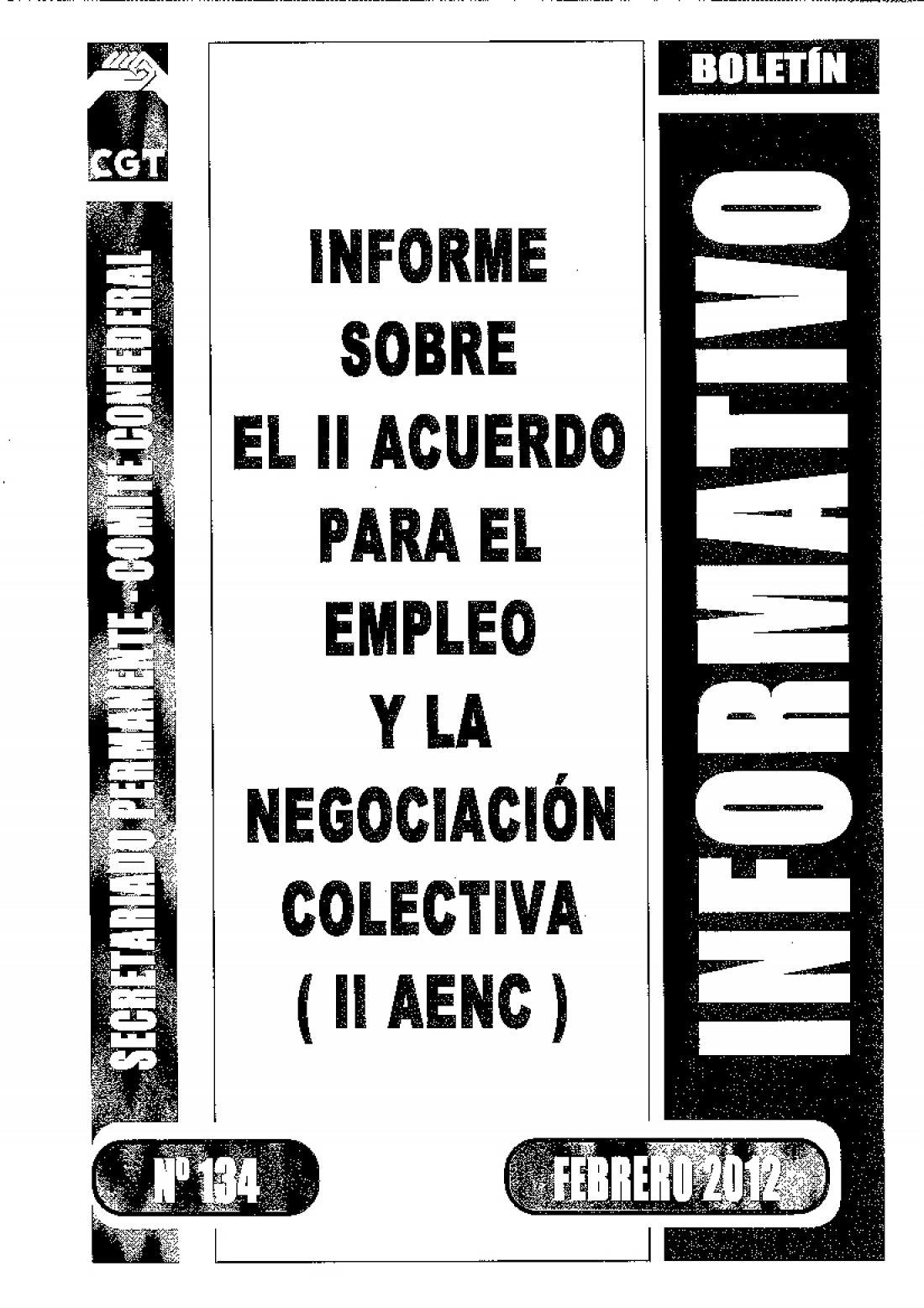 134. II Acuerdo para el Empleo y la Negociación Colectiva