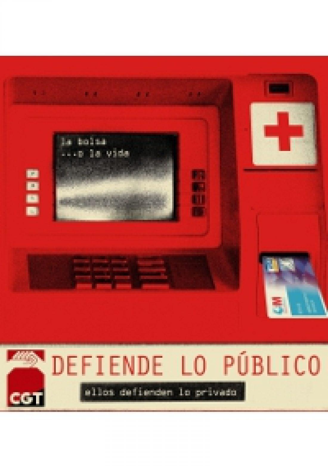 CGT en defensa de lo público