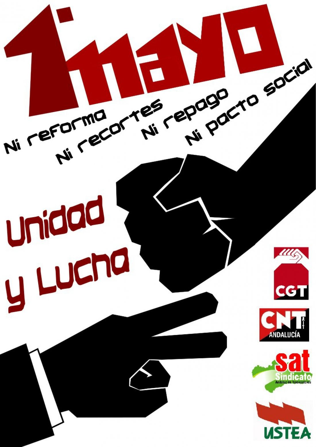 CGT, CNT, SAT y USTEA promueven un 1º de Mayo de unidad y lucha en Andalucía