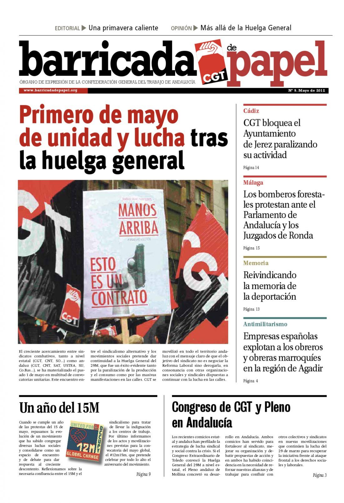 Barricada de Papel núm. 9 – Mayo 2012