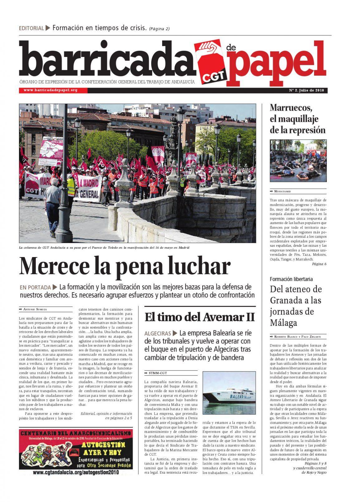 Barricada de Papel núm. 2 – Julio 2010