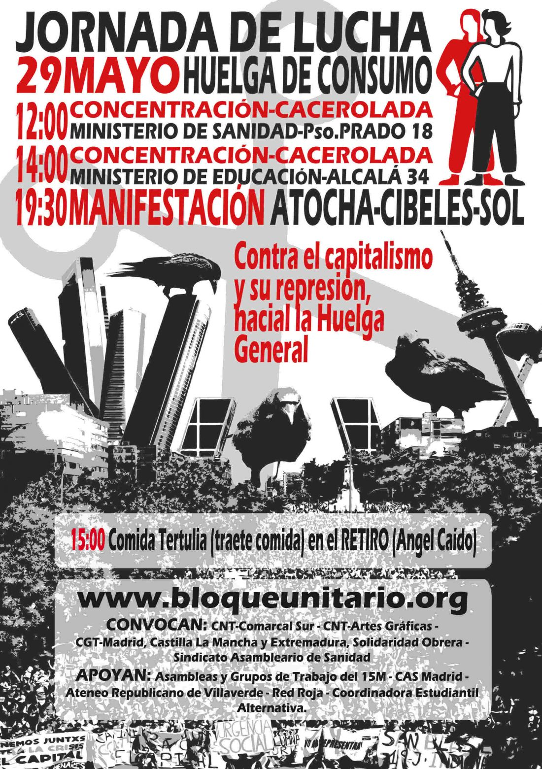 29 de mayo Madrid. Jornada de lucha y huelga de consumo
