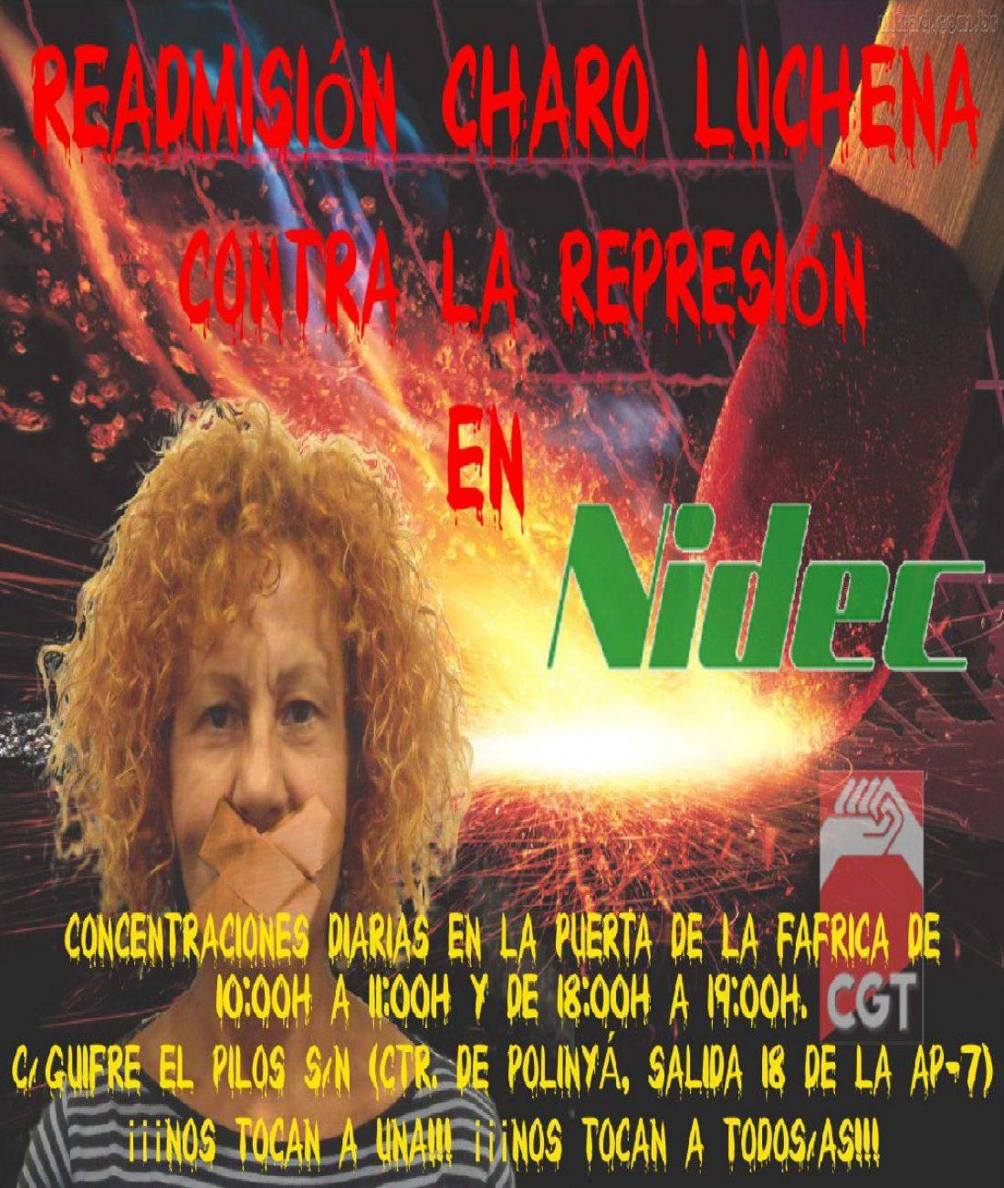 Comunicado: tras meses de lucha contra Nidec Motors & Actuators, Charo Lucena readmitida