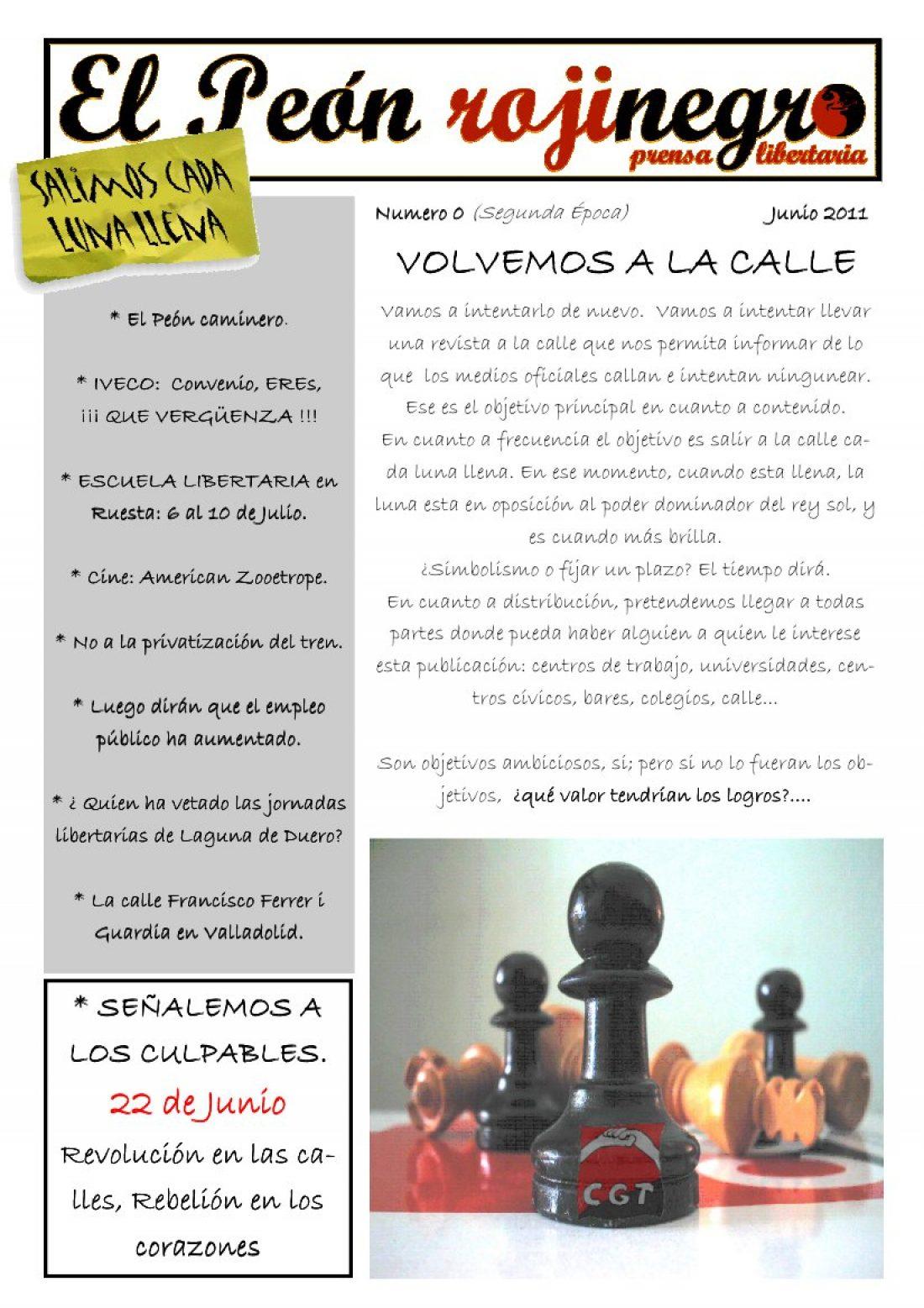 El Peón Rojinegro núm. 0 – Junio 2011