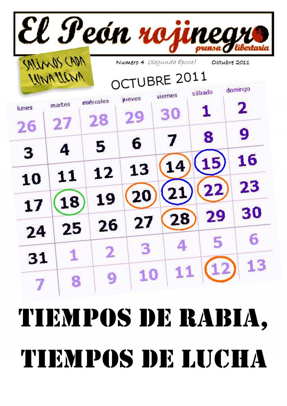 El Peón Rojinegro núm. 4 – Octubre 2011