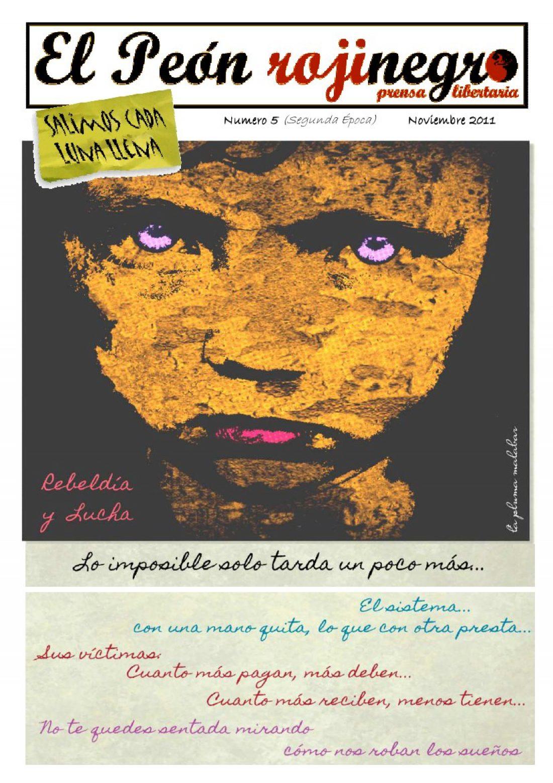 El Peón Rojinegro núm. 5 – Noviembre 2011