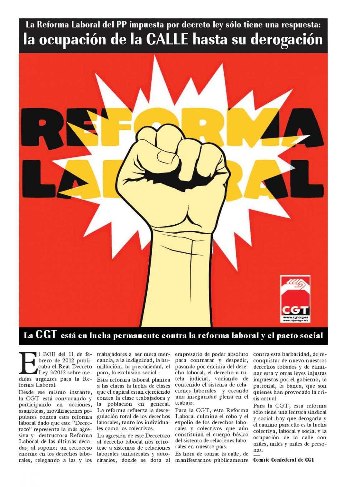 Rojo y Negro especial Reforma Laboral 2012