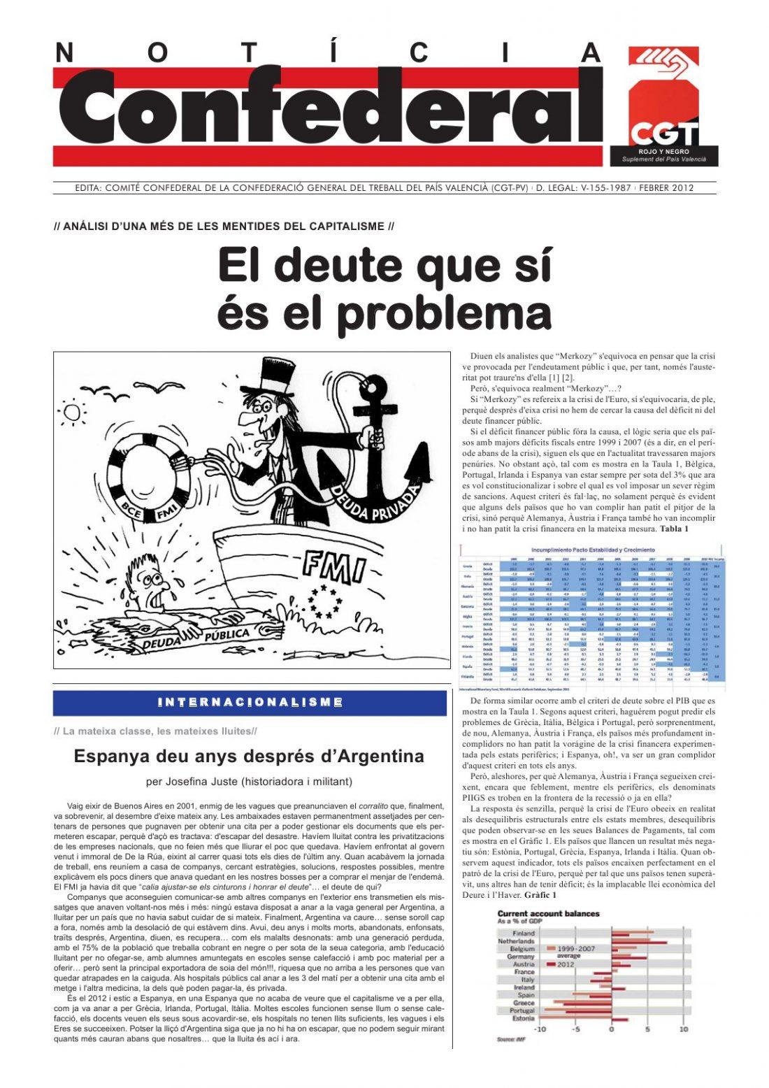 Noticia Confederal – Febrero 2012