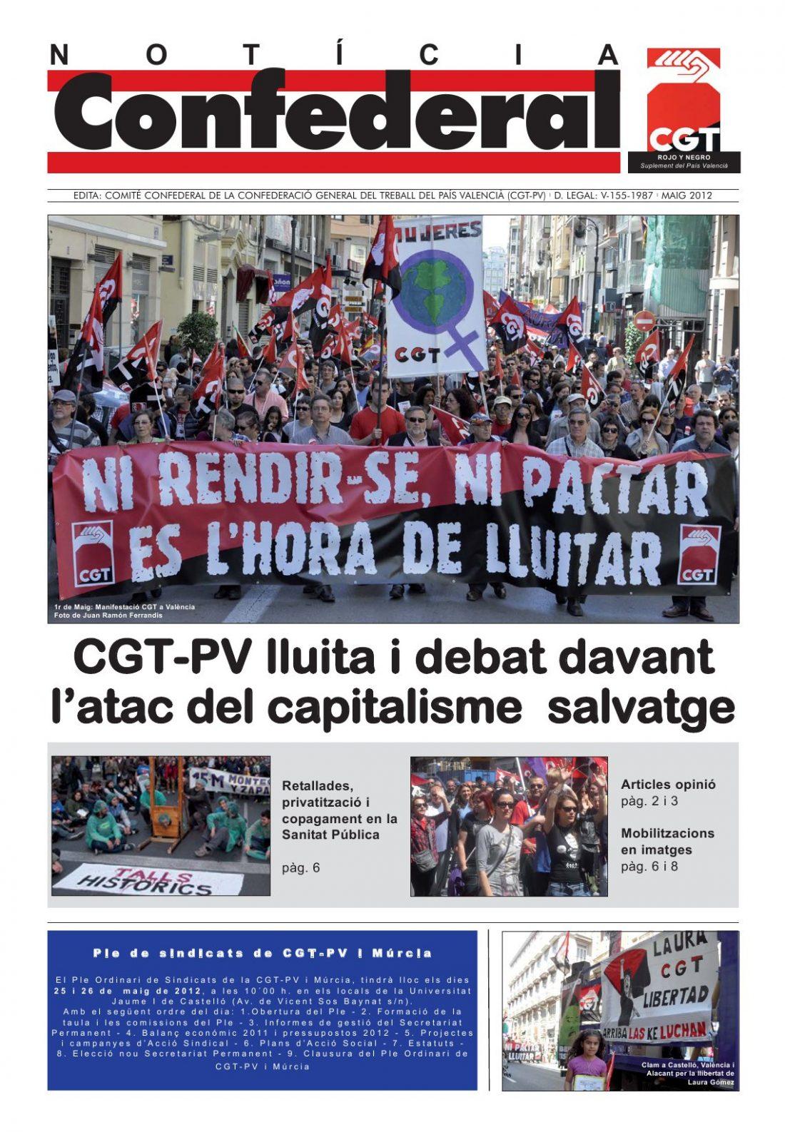 Noticia Confederal – Mayo 2012