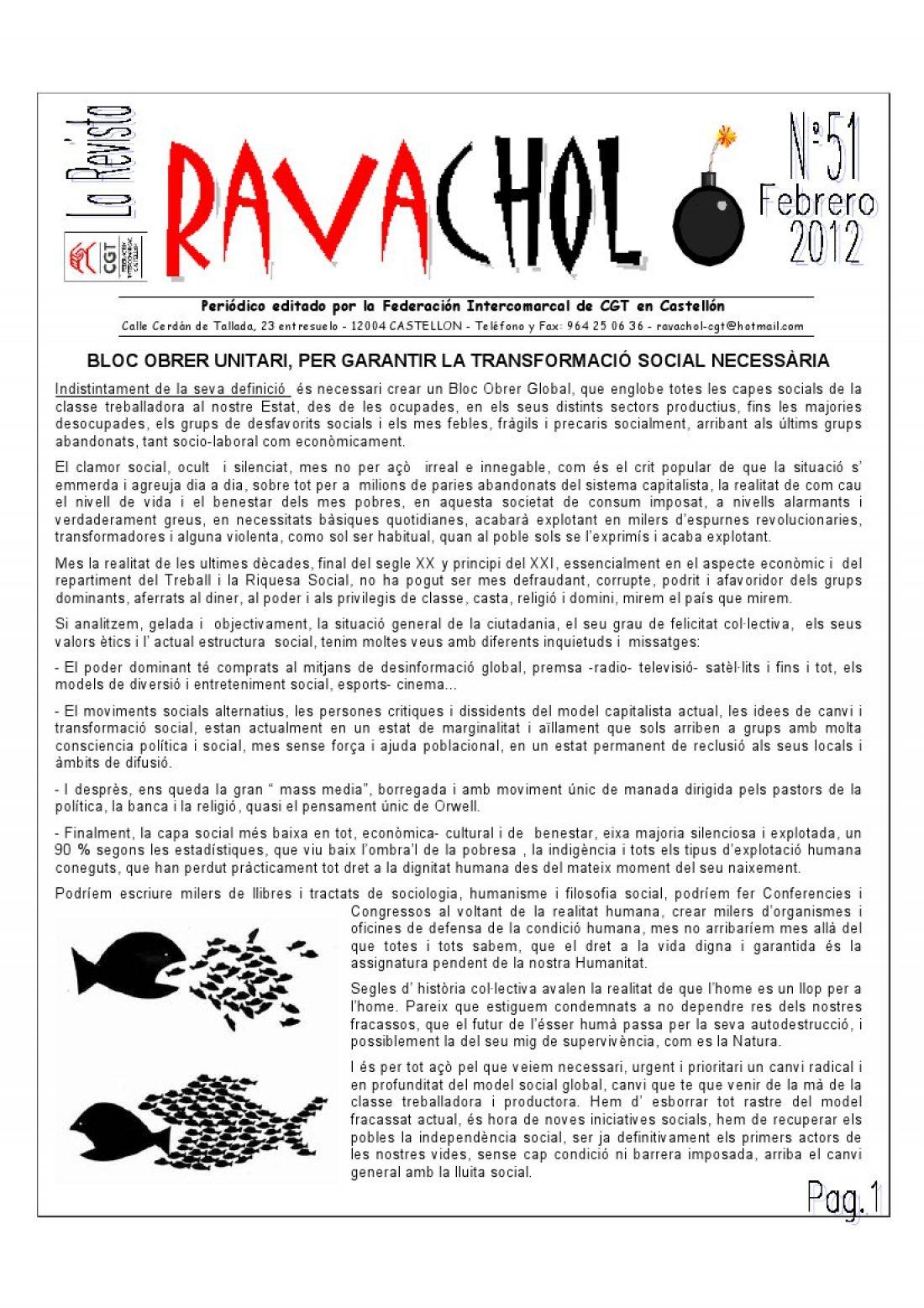 Ravachol núm. 51 – Febrero 2012
