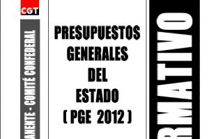 Publicado el Boletin Informativo nº 136: Presupuestos Generales del Estado (PGE 2012)