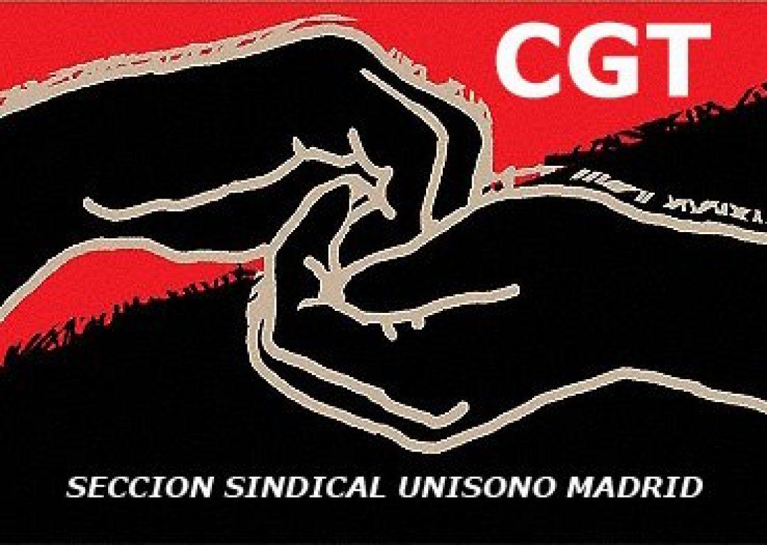 CGT gana de nuevo las elecciones en UNISONO Madrid