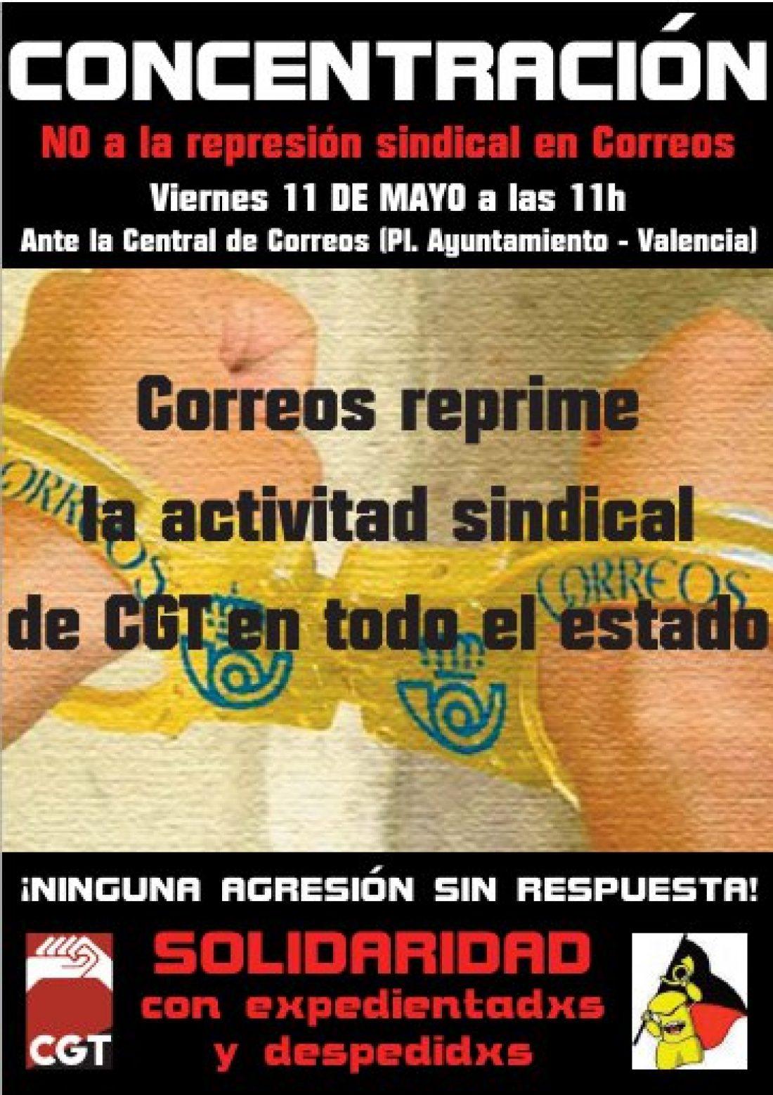 A toda la CGT. Concentración por la dignidad laboral y contra la represión postal