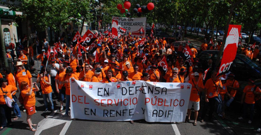 Madrid. Más de 6.000 ferroviari@s contra la privatización