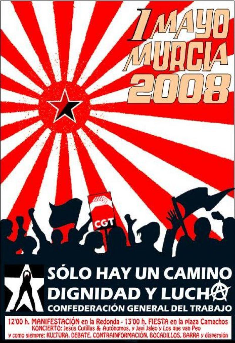 Cartel 1 mayo 2008 CGT (Murcia) - Imagen-1