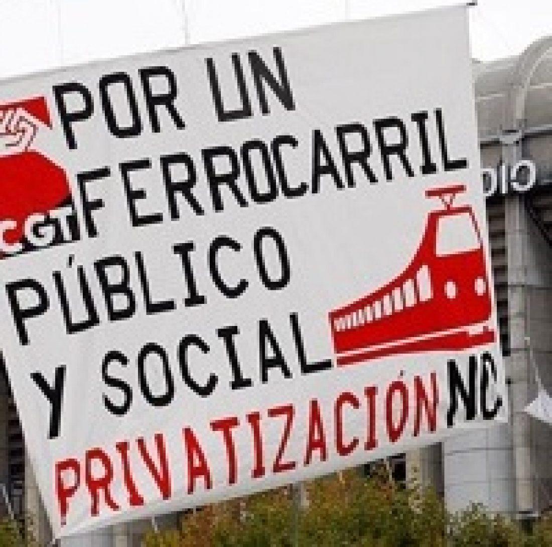 Manifestación en Madrid el 23 de junio. No a la privatización del ferrocarril
