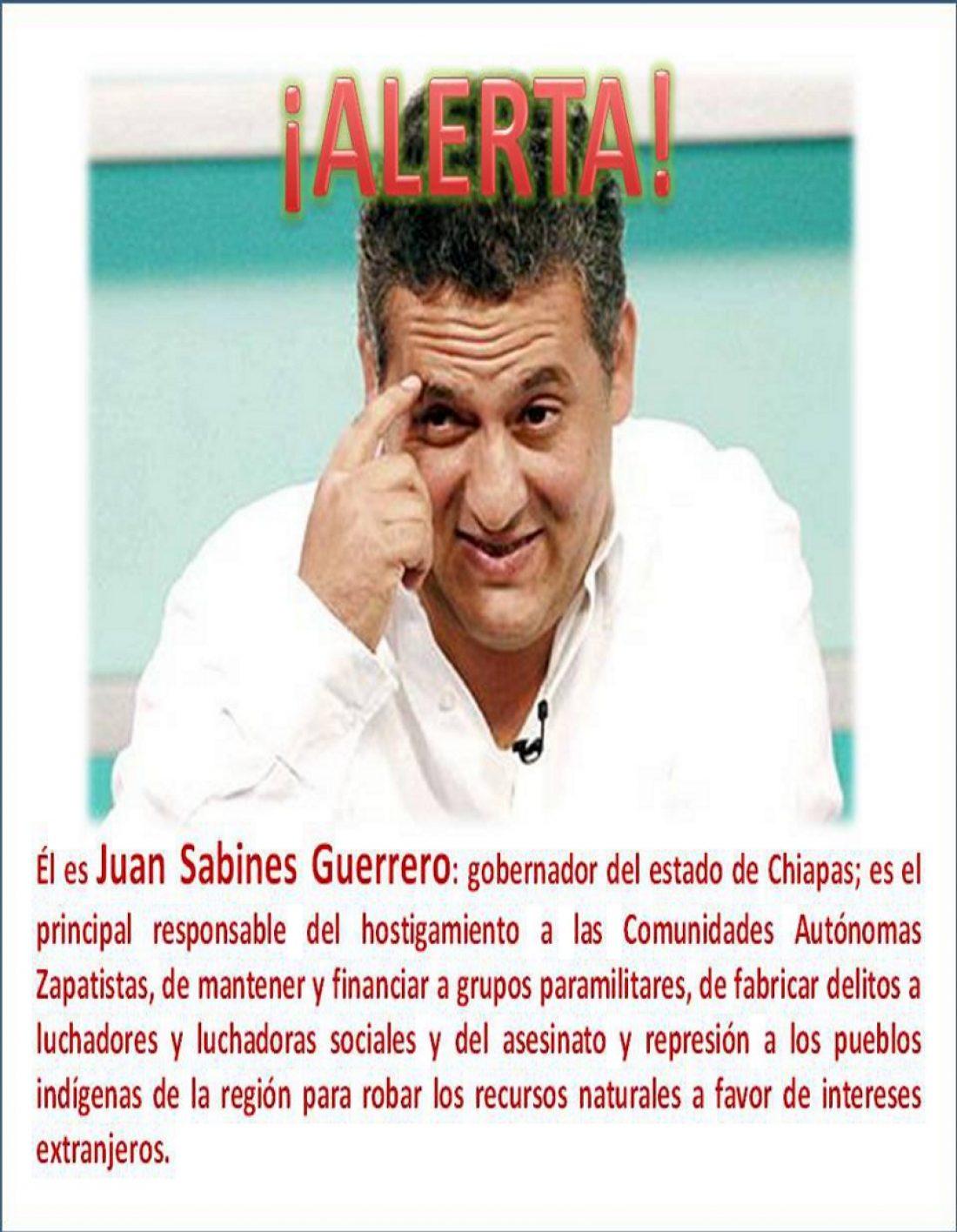 Alicante. Concentración por la defensa de la autonomía zapatista y por la libertad de los presos mexicanos.