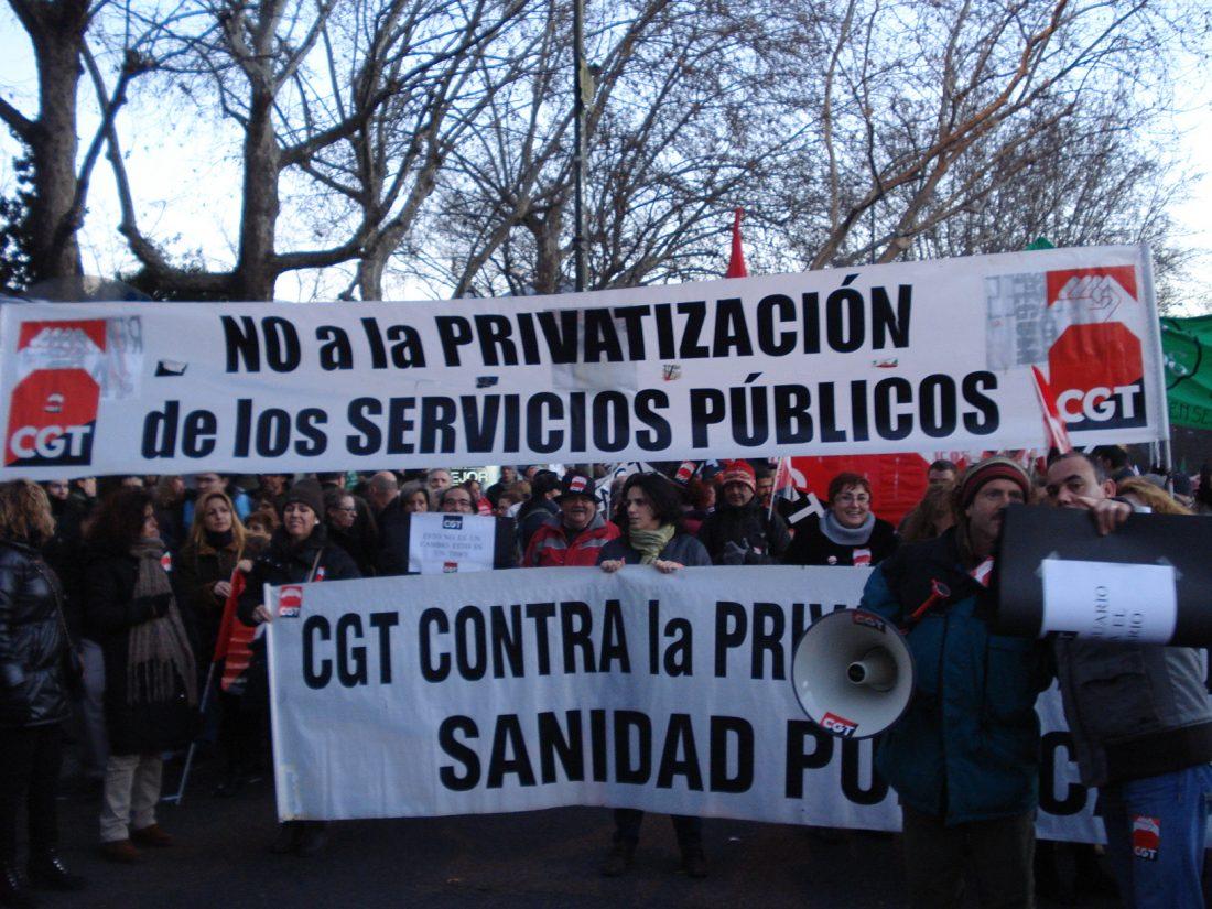 Madrid. Concentracion en defensa de los servicios públicos 22 de junio