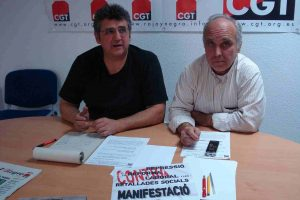 Audio: rueda de prensa de CGT convocando una Huelga General para otoño 2012