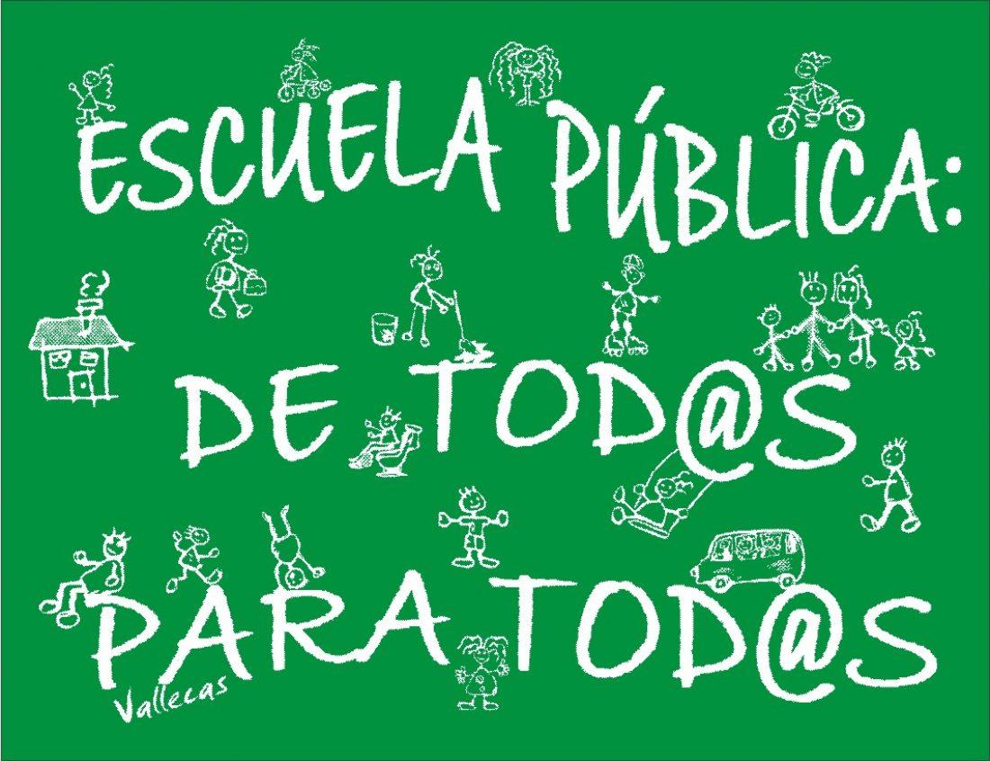 CGT convoca una concentración en Cáceres contra los recortes en educación y en defensa de la Escuela Pública.