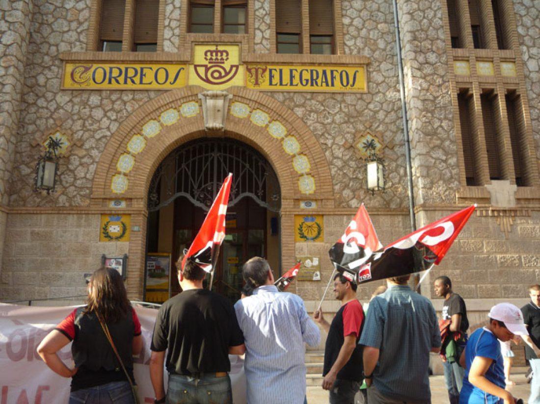 Madrid. Concentración de apoyo contra la represion en Correos
