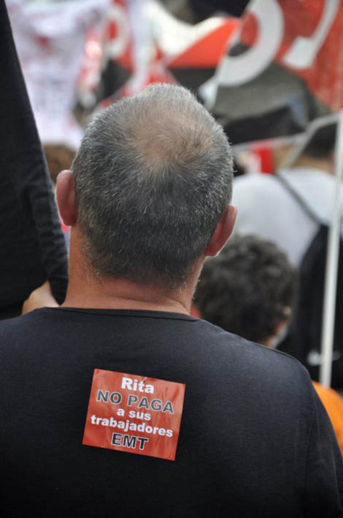 Fotos de la manifestación de apoyo a las luchas de EMT, RTVV, Teletech, Renfe en Valencia el 26 de julio