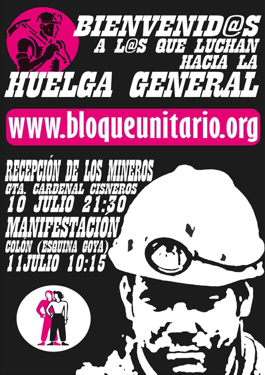 Actos de solidaridad en Madrid y Valencia de apoyo a la lucha minera