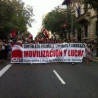 Barcelona. Concentración en Barcelona contra los nuevos recortes