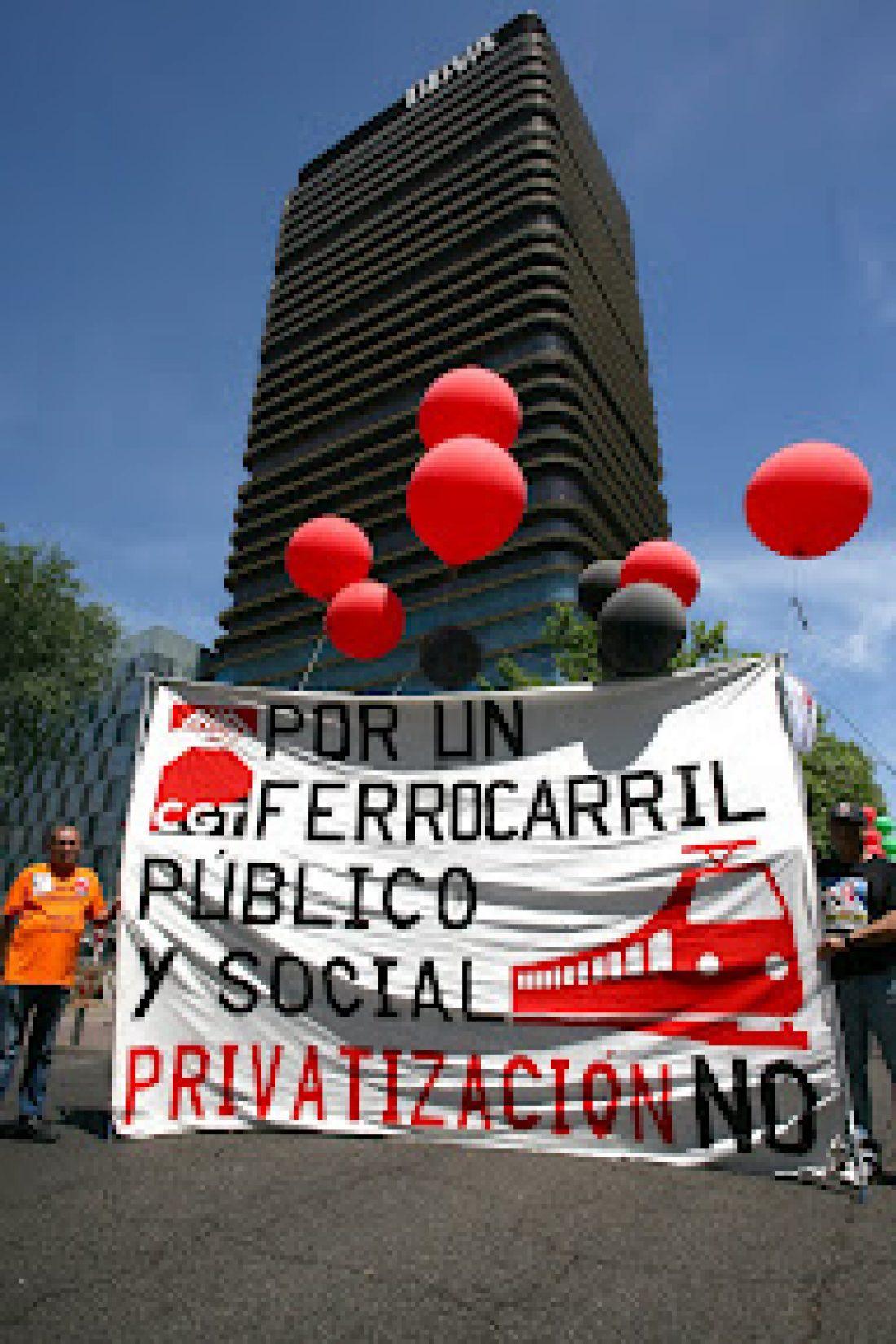 Comunicado. Los sindicatos de ADIF, Renfe-Operadora y FEVE contra privatización y desmantelamiento del sector público ferroviario