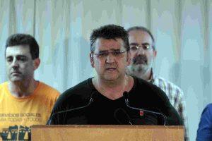Rueda de prensa de Jacinto Ceacero, Secretario General de CGT, previa a la manifestación del 19 julio del 2012