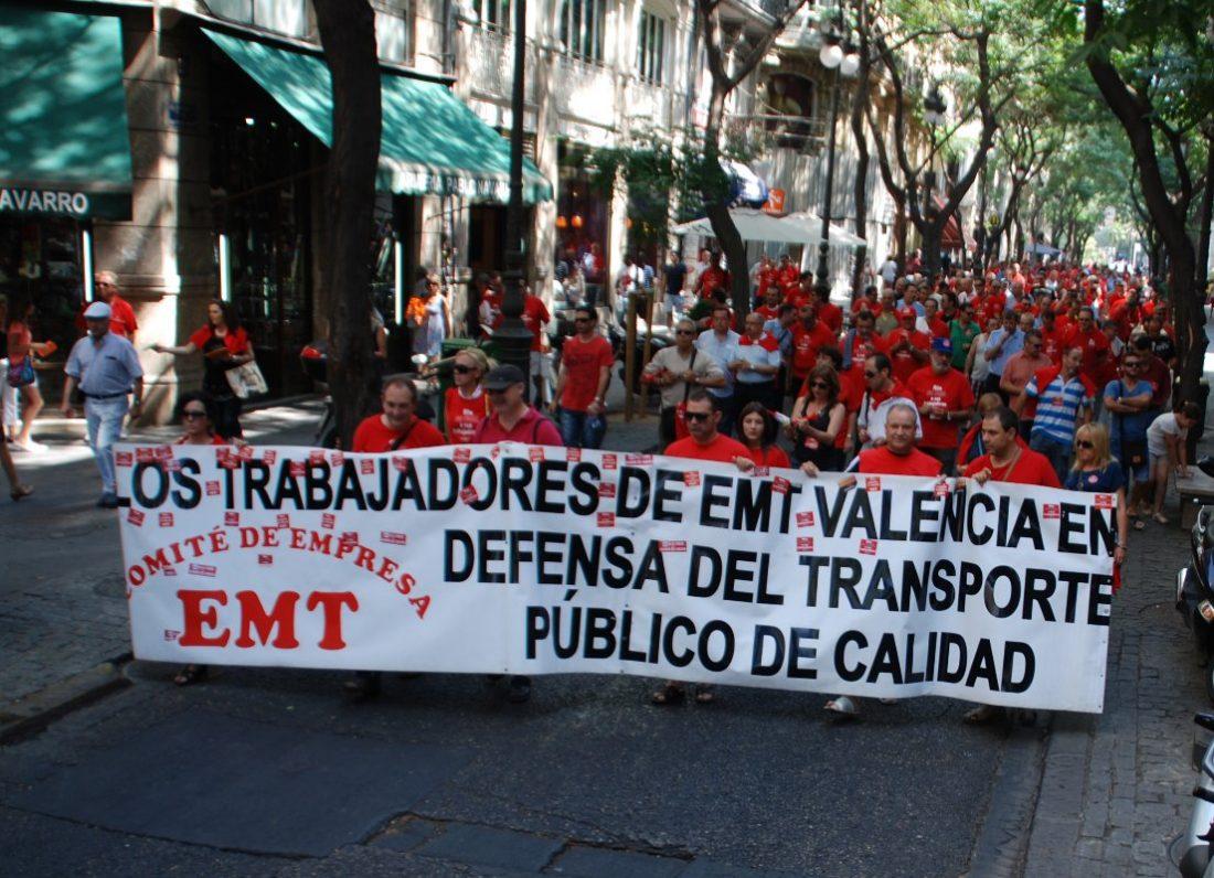 Valencia. CGT dice no al preacuerdo en la EMT