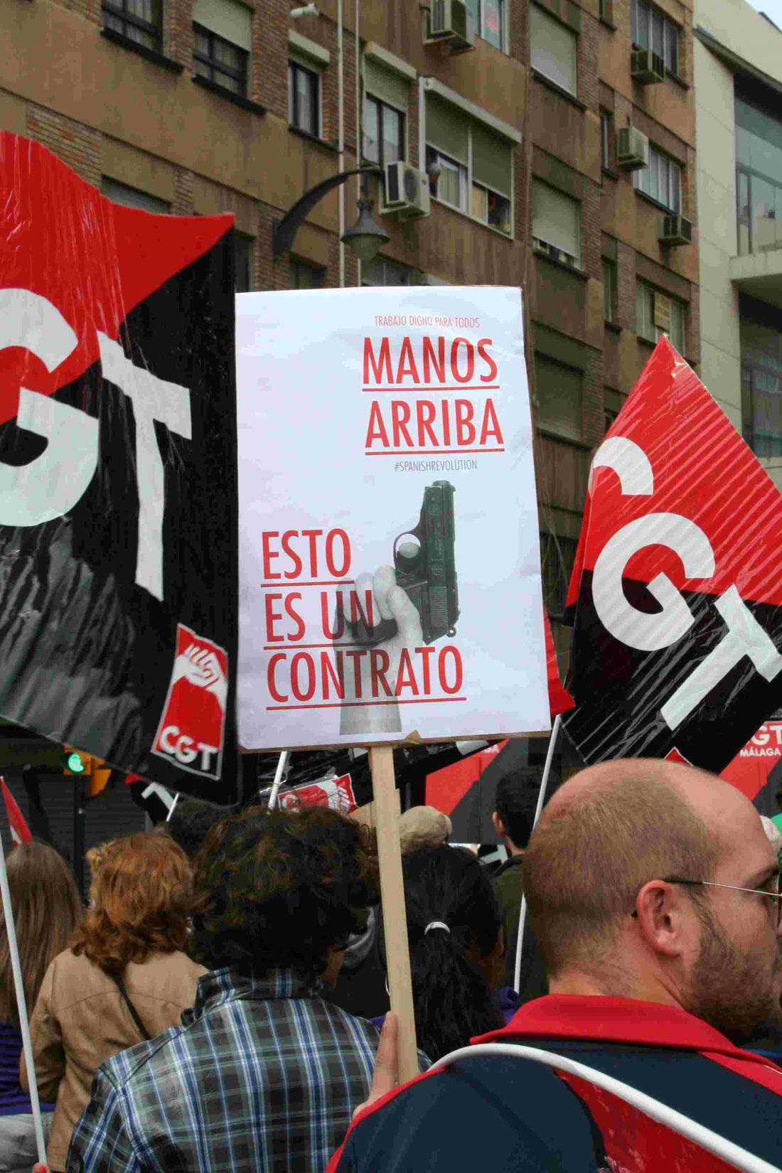 Málaga. CGT mantendrá un verano rojinegro, contra los atropellos del gobierno a la ciudadanía