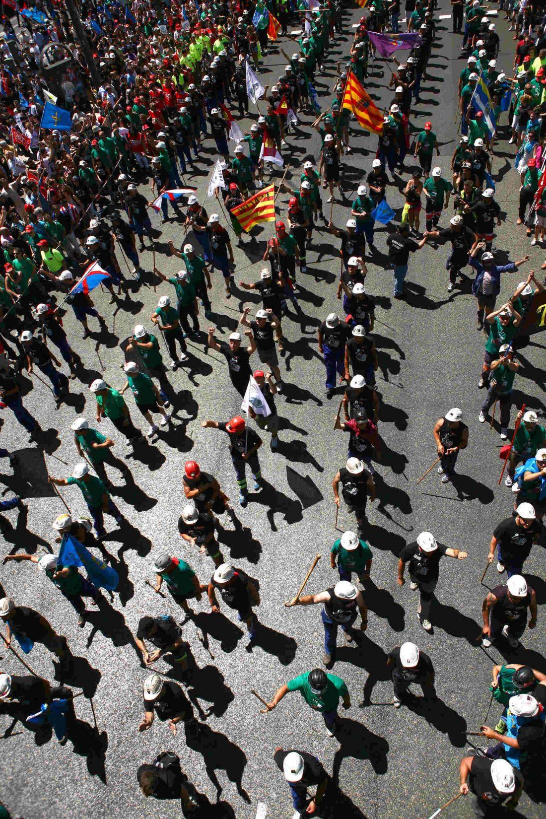 Fotos de la manifestación de apoyo a la lucha minera en Madrid