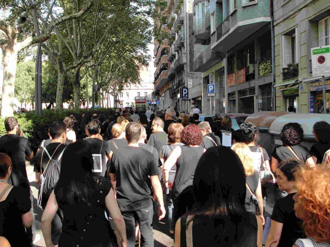 Barcelona y L'Hospitalet. Realizados cortes de tráfico y concentraciones hoy viernes 24 agosto